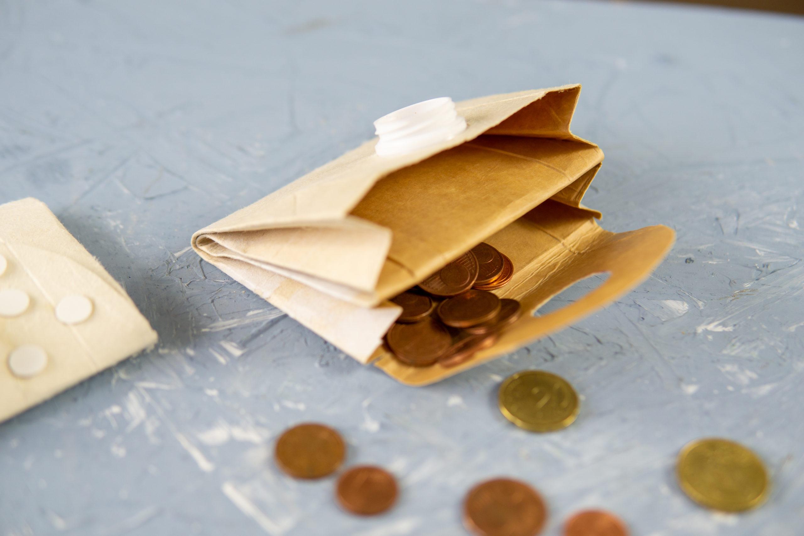 Nachhaltigkeit: DIY Geldbörse aus der Milchtüte