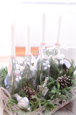 AdventsKranz in Flaschen