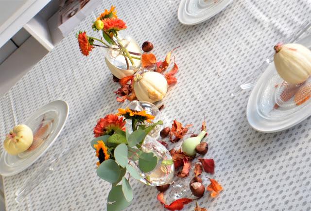 Herbstliche Tischdeko und ein Statement zur Werbung
