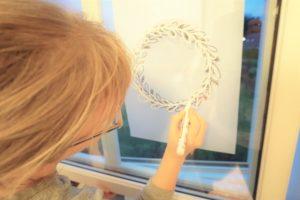 Fensterbilder Weihnachten Vorlagen Kostenlos Deko Hus
