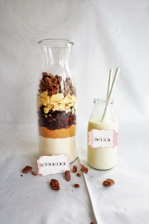 Backmischung im glas cookies deko hus for Deko im glas