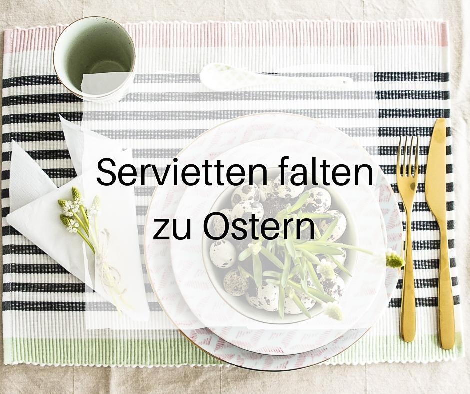 Servietten falten zu Ostern