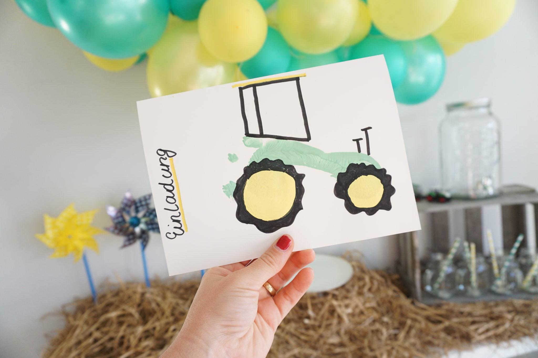 Traktor Geburtstag Einladung Torte Deko Deko Hus