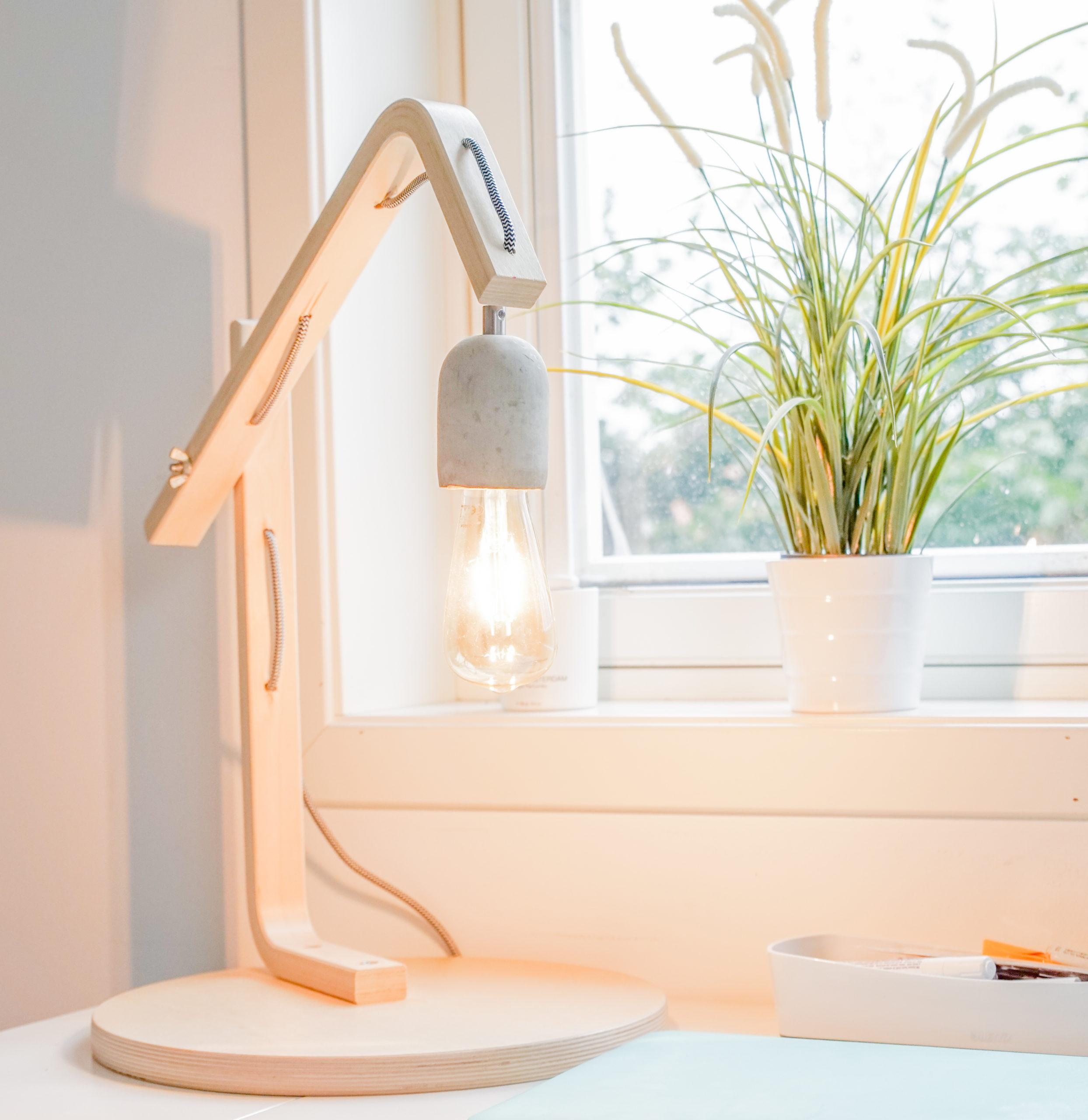 Ikea Hack FROSTA Hocker wird zur Lampe