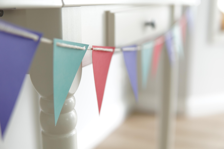Ideen für die Einschulung: Wimpelkette selber machen