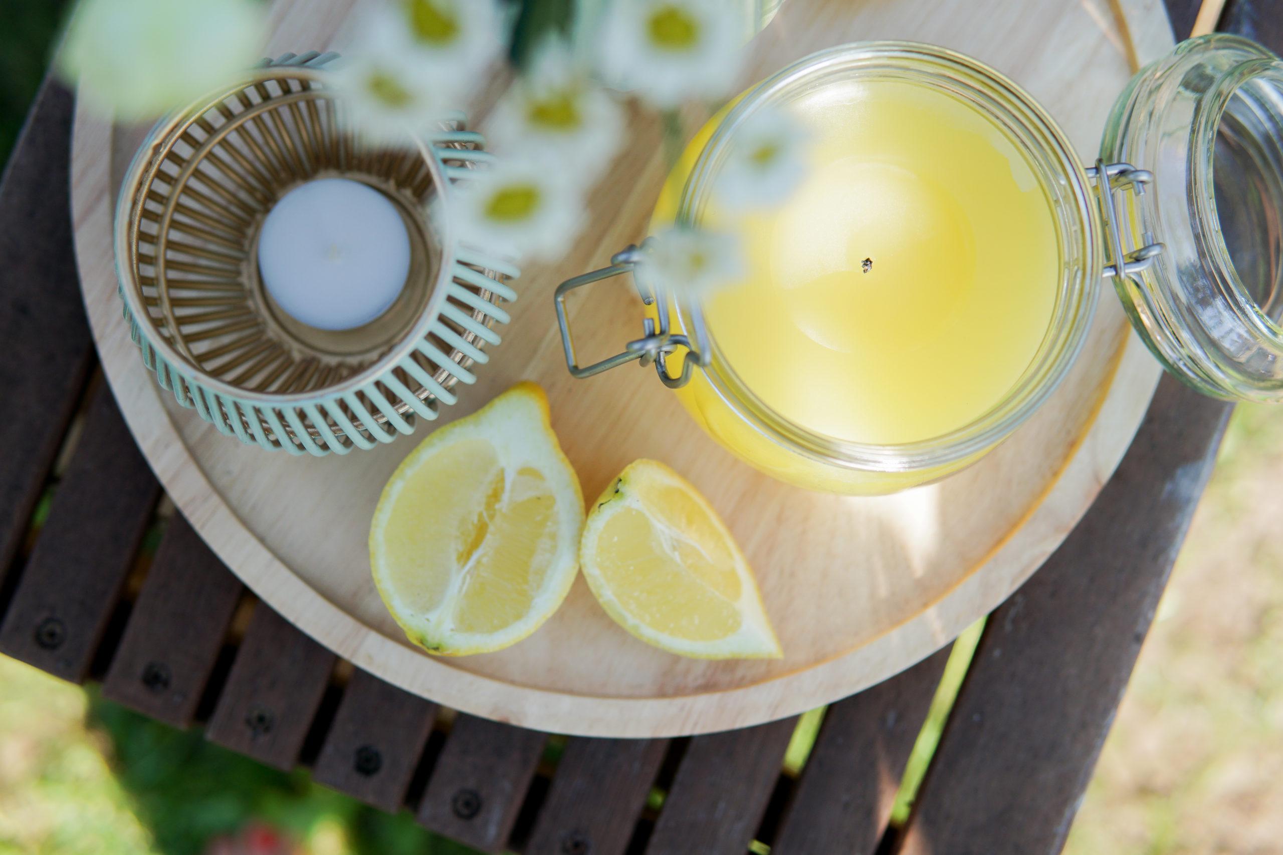 DIY Citronella Kerze gegen Mücken selber machen