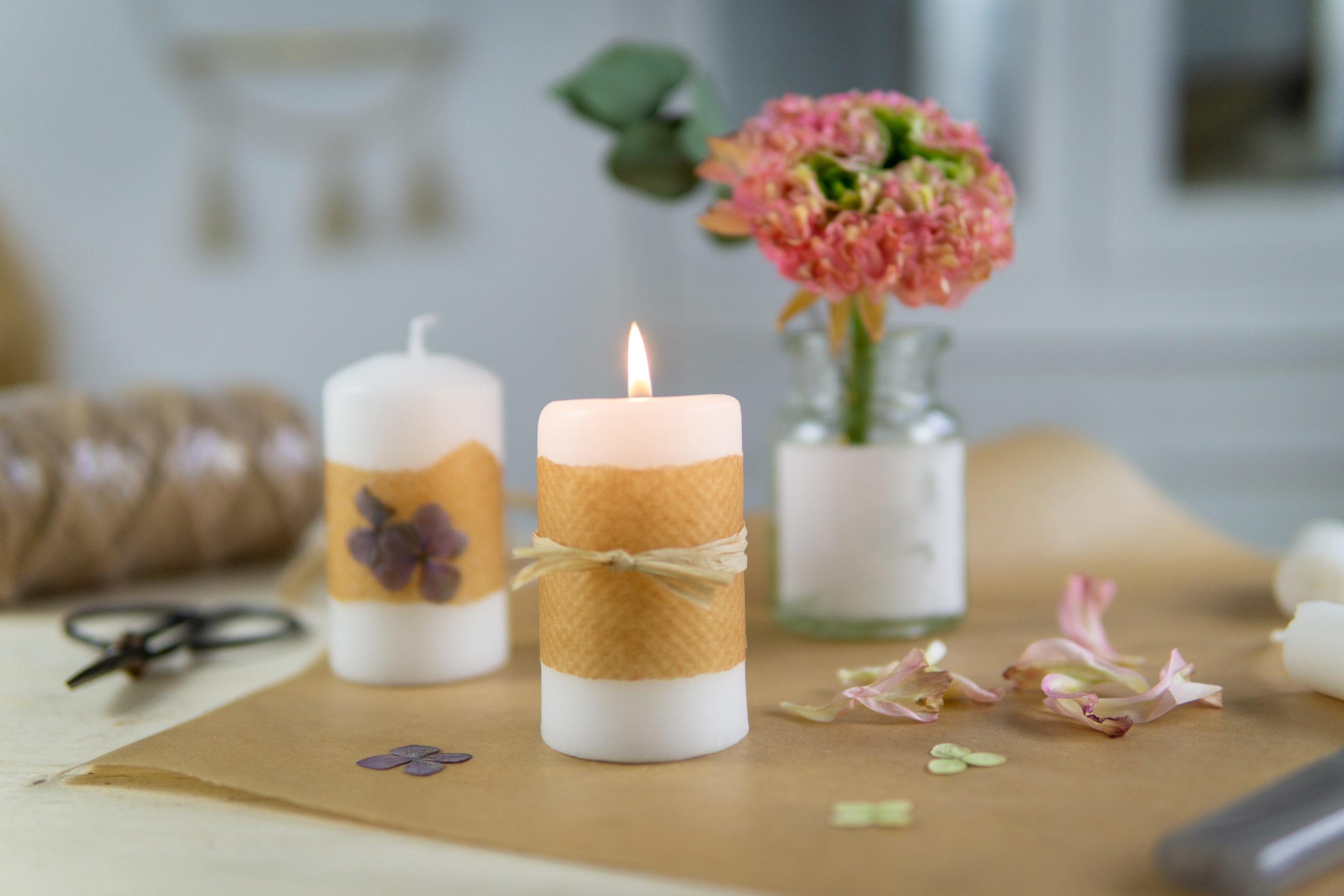 Kerzen gestalten: 4 Ideen zum Nachmachen